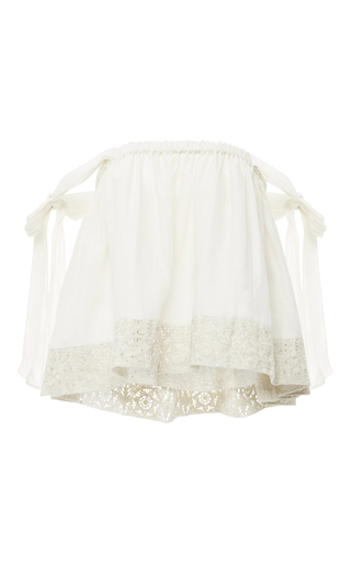 Medium houghton off white off the shoulder paola top