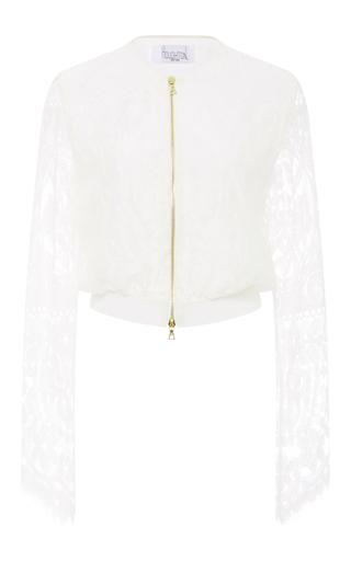 Medium houghton white lace avalia bomber jacket