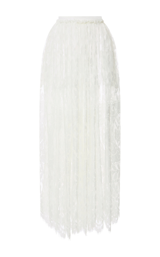 Medium houghton white lace rhye midi skirt
