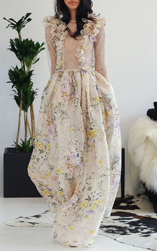 Floral Organza Contessa Gown by HOUGHTON Now Available on Moda Operandi