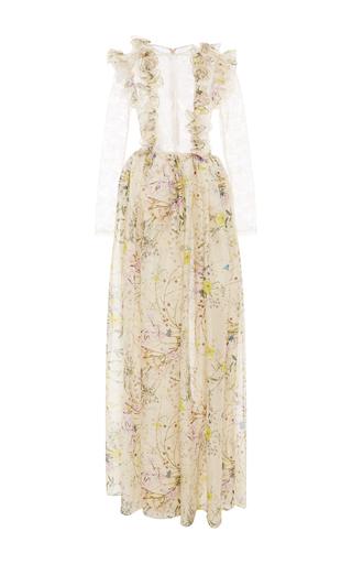 Medium houghton white floral organza contessa gown