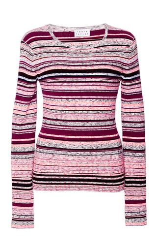 Medium tanya taylor pink melange striped jessy sweater