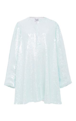 Medium houghton blue talia sequin shirt dress