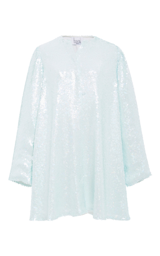 Medium houghton blue talia sequin shirt dress