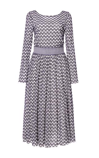 Medium tanya taylor blue checked floral mesh petra dress