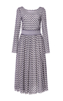 Checked Floral Mesh Petra Dress by TANYA TAYLOR Now Available on Moda Operandi