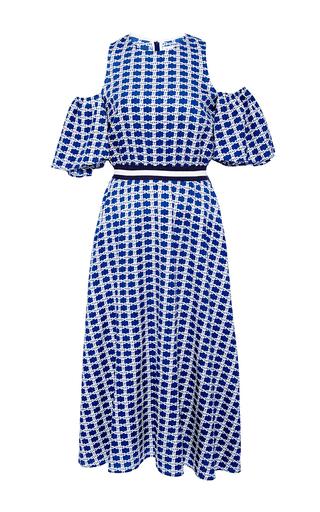 Medium tanya taylor blue checked floral shiloh dress