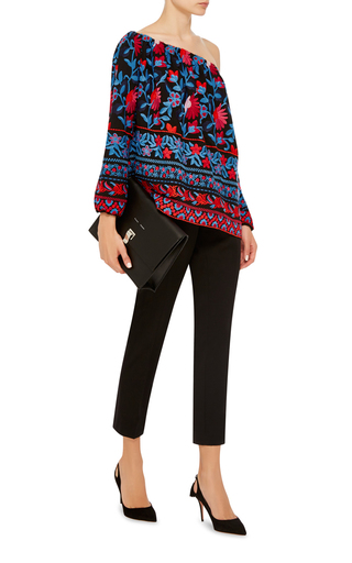 Floral Embroidered Nessa Top by TANYA TAYLOR Now Available on Moda Operandi