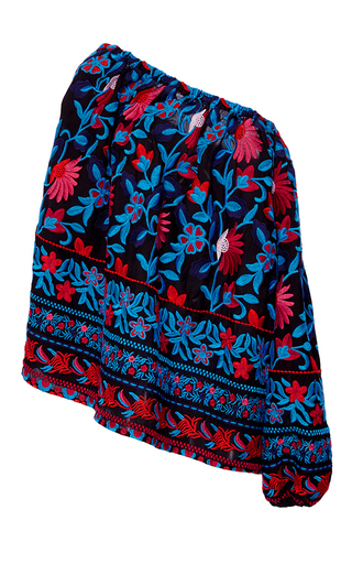 Medium tanya taylor multi floral embroidered nessa top