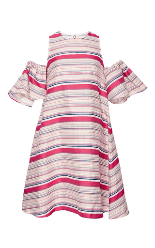 Medium tanya taylor red textured stripe nola dress
