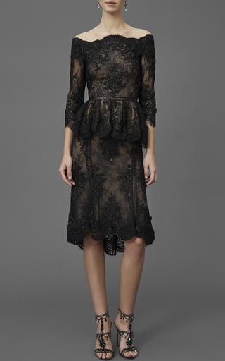 Beaded Tulip Skirt by MARCHESA Now Available on Moda Operandi