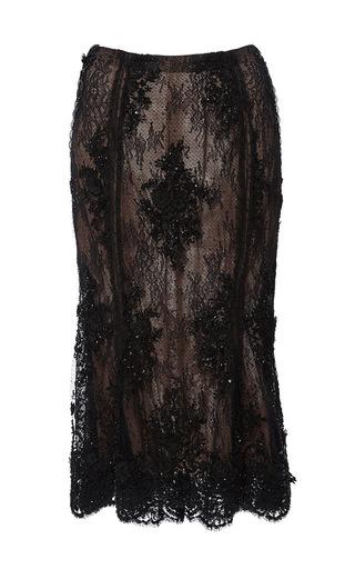 Medium marchesa black beaded tulip skirt