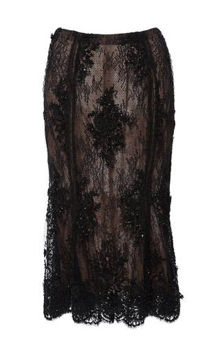 Medium marchesa black beaded tulip skirt