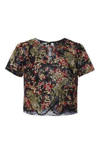 Medium marchesa multi floral leaf t shirt