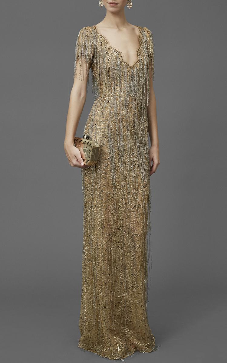 Gold Beaded Dress – Fashion design images