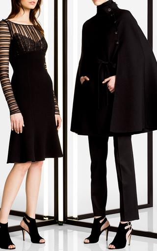 Heavy Wool Cape by CAROLINA HERRERA Now Available on Moda Operandi