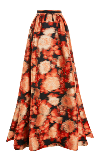 Medium carolina herrera red fil coupe ball skirt