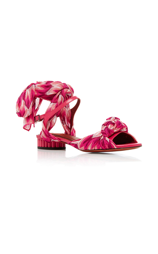 Medium missoni pink sidi silk wrapped sandals  2