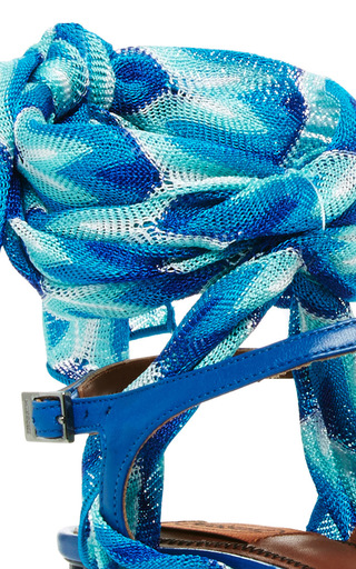 Sidi Silk Wrapped Sandals by MISSONI Now Available on Moda Operandi