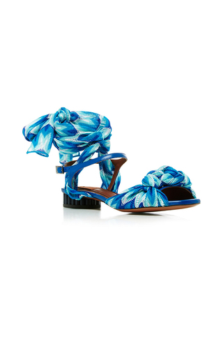Medium missoni blue sidi silk wrapped sandals