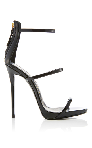 Medium giuseppe zanotti black coline patent leather sandals