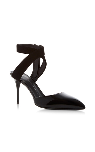 Medium giuseppe zanotti black lucrezia wrap pumps