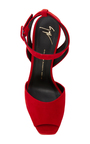 Lavinia Suede Sandals by GIUSEPPE ZANOTTI Now Available on Moda Operandi