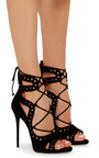 Coline Cutout Suede Sandals by GIUSEPPE ZANOTTI Now Available on Moda Operandi