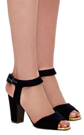 Lavinia Velvet Sandals by GIUSEPPE ZANOTTI Now Available on Moda Operandi