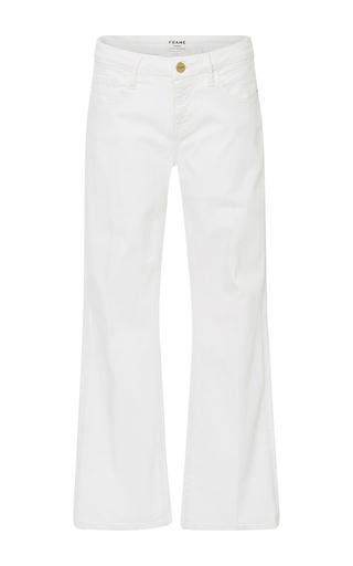 Medium frame denim white le cropped mini bootcut jeans
