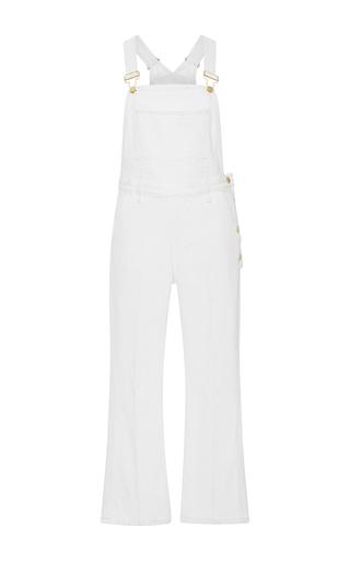Medium frame denim white le antibes denim overalls