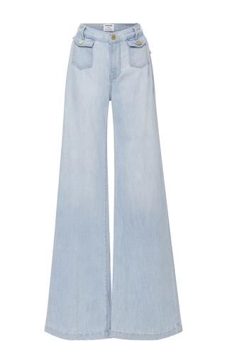 Medium frame denim light wash soho denim trousers