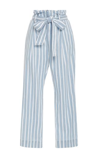 Medium frame denim stripe le paperbag trousers