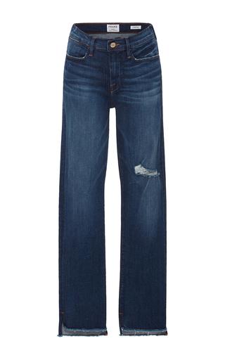 Medium frame denim medium wash le high straight legged jeans