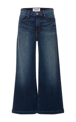 Medium frame denim medium wash le capri cropped jeans