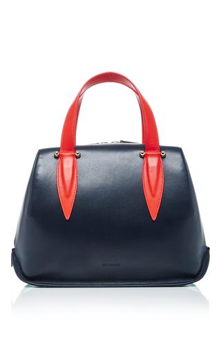 Medium delpozo tan tri color top handle bag
