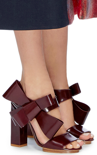 Bow Sandals by DELPOZO Now Available on Moda Operandi