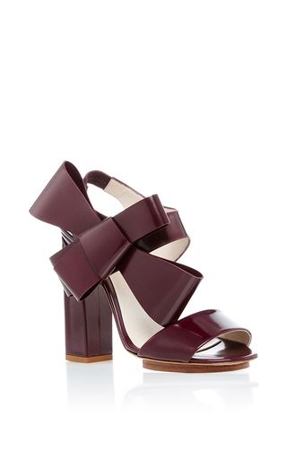 Medium delpozo burgundy bow sandals