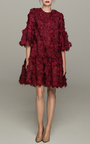 Guipure Flower Lace Jumper Dress by COSTARELLOS Now Available on Moda Operandi