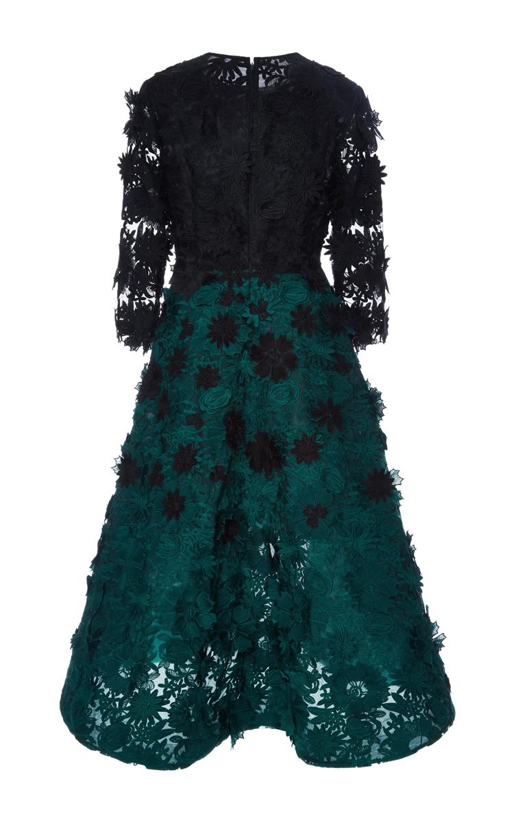 Guipure Lace Degrade Dress By Costarellos Moda Operandi