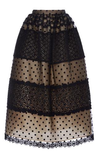 Medium costarellos black chantilly lace and dot tulle ball skirt