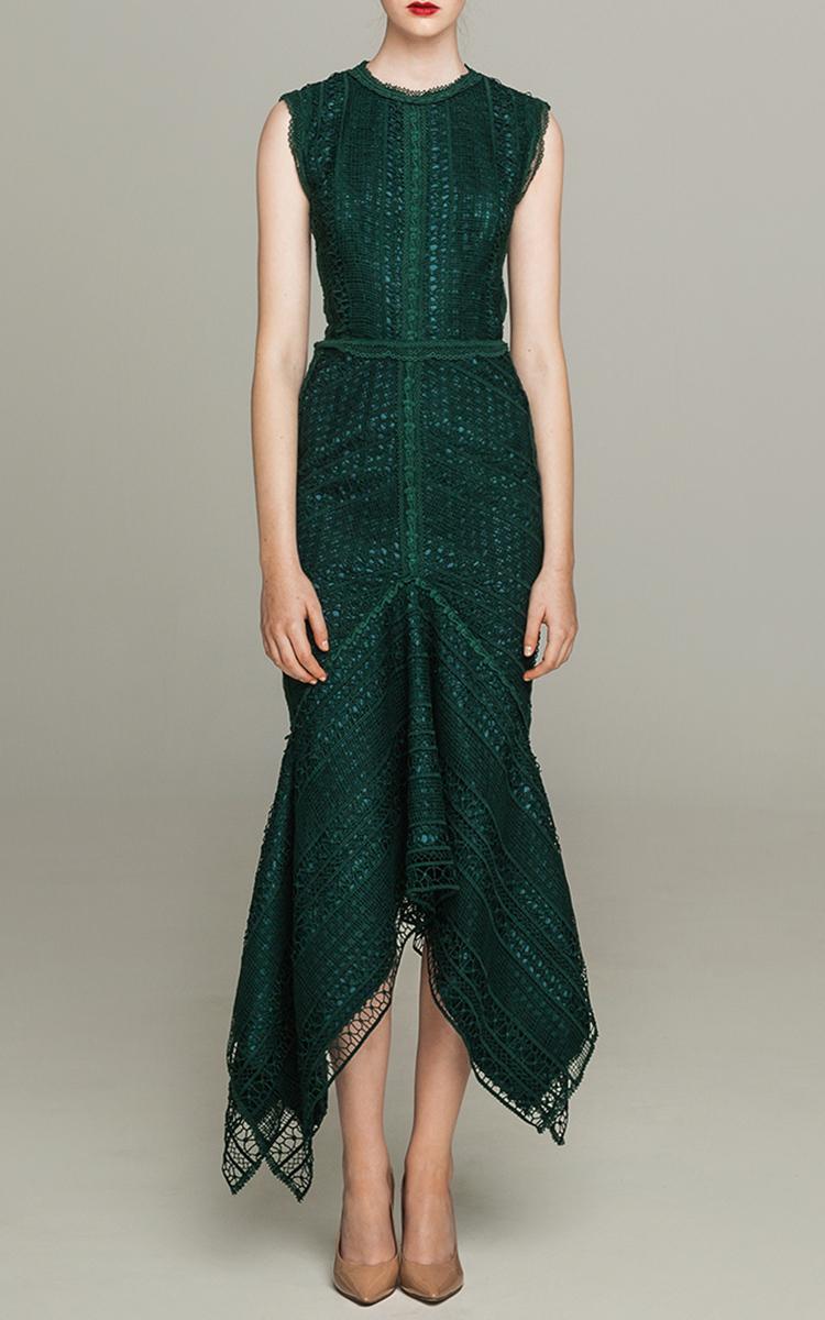 Guipure Lace Sleeveless Midi Dress By Costarellos Moda