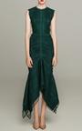 Guipure Lace Sleeveless Midi Dress by COSTARELLOS Now Available on Moda Operandi