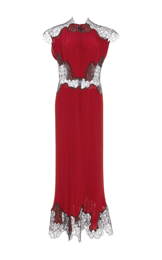 Medium costarellos burgundy bordeaux long chiffon plisse dress