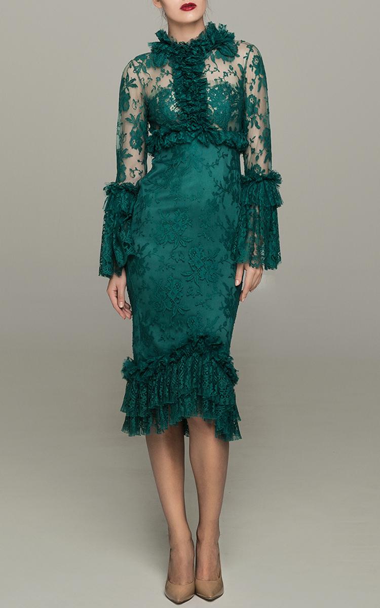 Ruffles Midi Dress