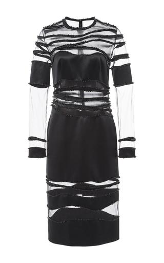 Medium costarellos black embroidered crepe satin silk short dress