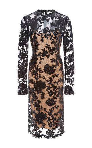 Medium costarellos black midi sequin lace dress