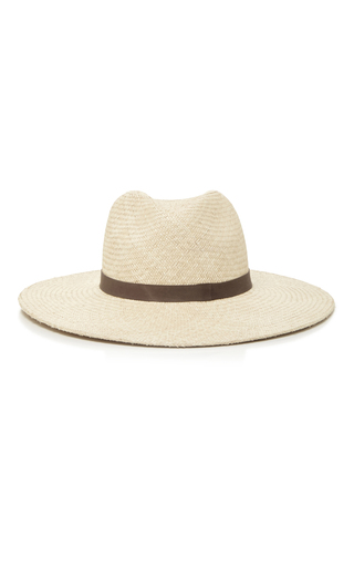 Medium janessa leone ivory gloria wide brimmed panama hat