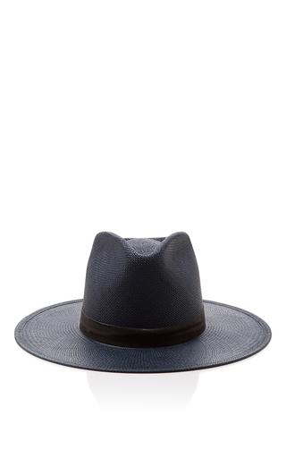 Medium janessa leone navy aster tall panama hat