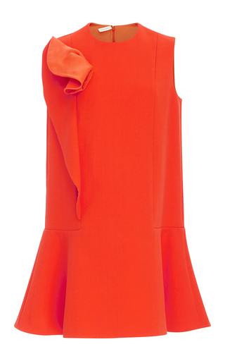 Medium delpozo orange ruffle detail mini dress